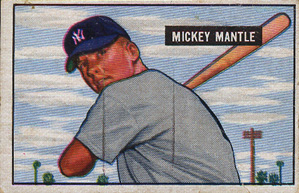 Selling Mickey Mantle Baseball Cards American Legends